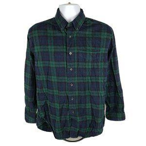 LL Bean Plaid Button Front Shirt